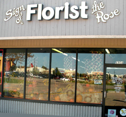 About Us And Business Hours Sign Of The Rose Colorado Springs Co 80918